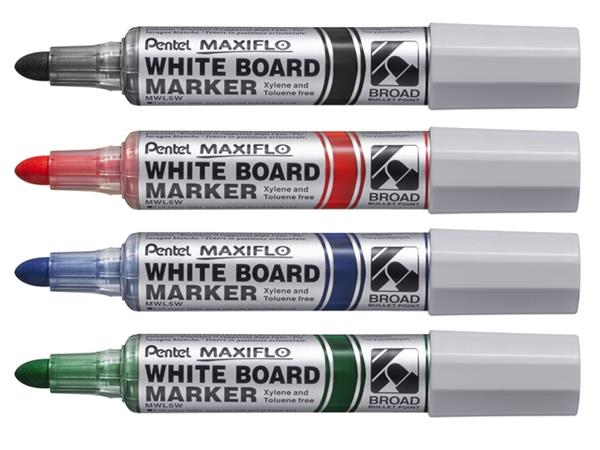 VILTSTIFT PENTEL MWL5 WHITEBOARD MAXIFLO 3MM ZWART