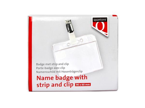 Badge Quantore met clip 60x90mm