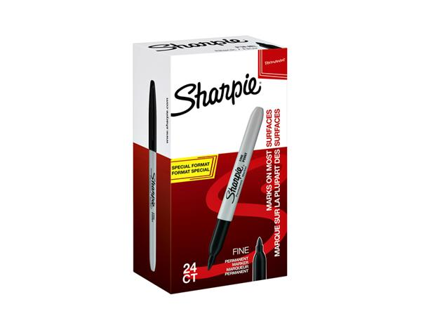 VILTSTIFT SHARPIE ROND 1.0MM F ZWART