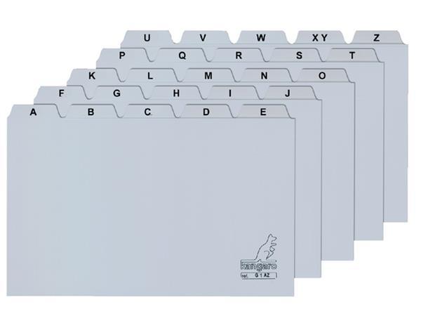 Alfabet HF2 90x130mm PP grijs