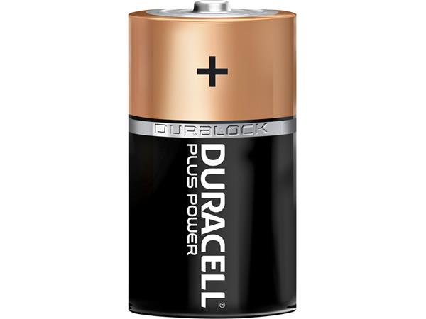 BATTERIJ DURACELL D PLUS POWER 50% ALKALINE