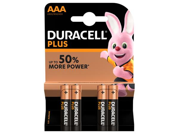 Batterij Duracell Plus Power 4xAAA alkaline