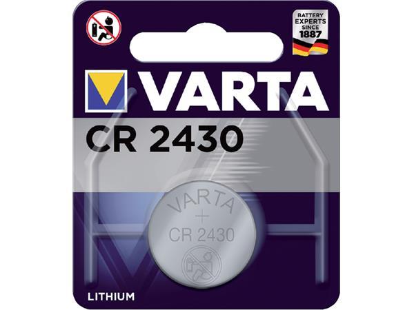 KNOOPCEL BATTERIJ VARTA CR2430 LITHIUM DL2430 3V