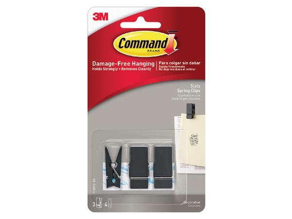 3m command deko-klammer formaat s zwart