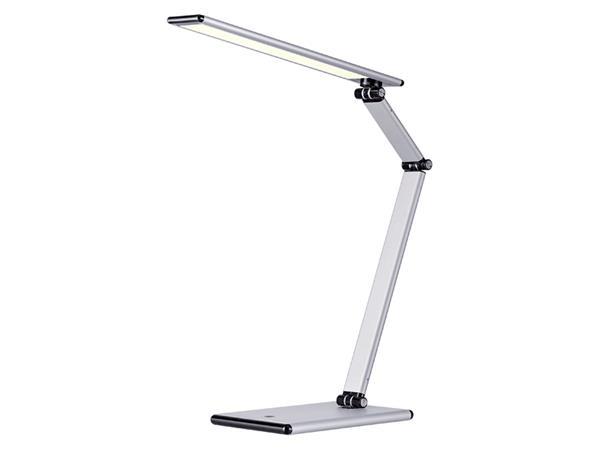 Bureaulamp Hansa led Slim zilvergrijs