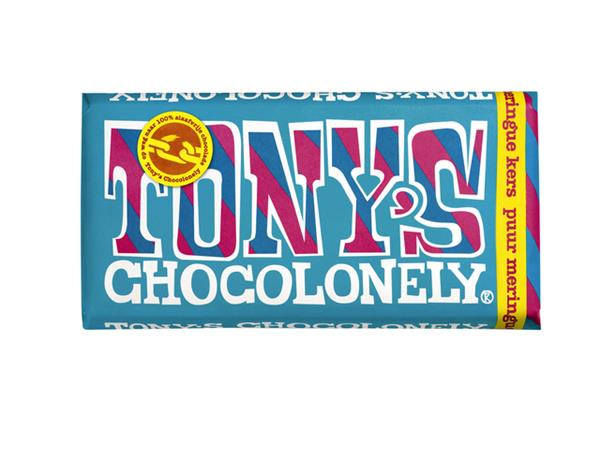 Chocolade Tony's Chocolonely reep 180gr puur meringue kers