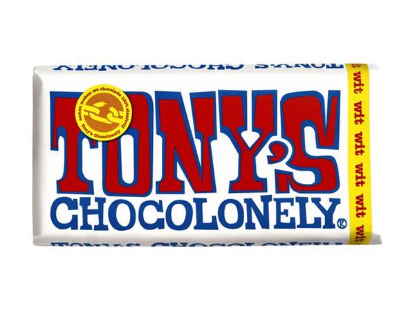 Chocolade Tony's Chocolonely reep 180gr wit