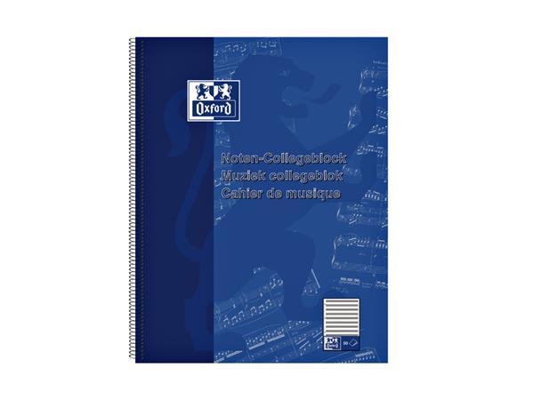 COLLEGEBLOK OXFORD MUZIEK A4+ 4-GAATS 50VEL 90GR