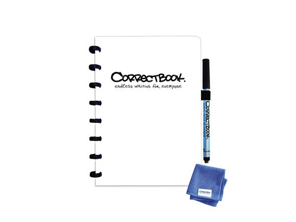 Notitieboek Correctbook A5 blanco 40blz inspirational white