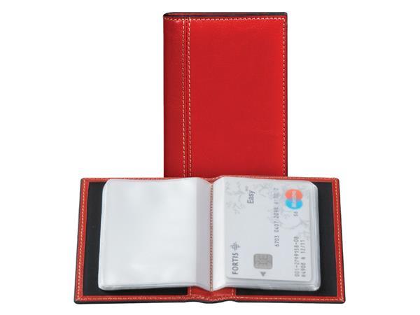Creditkaart etui Palermo 40stuks rood