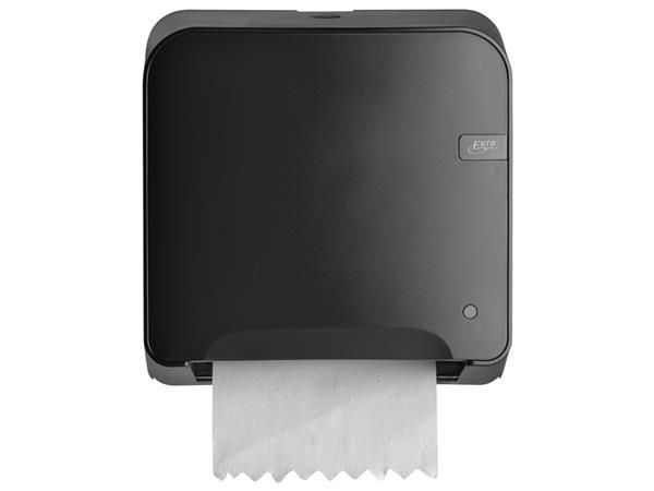 Dispenser Euro Quartz handdoekrol mini matic zwart