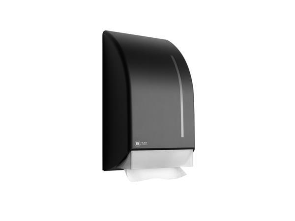 Dispenser+Satino+Black+voor+handdoeken+zigzag+gevouwen