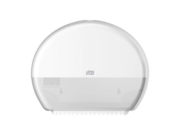 Dispenser Tork T2 555000 mini jumbo toiletpapierdispenser wit
