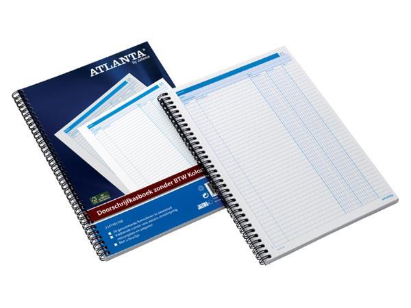 Doorschrijfkasboek Atlanta A4 50x2vel zonder BTW