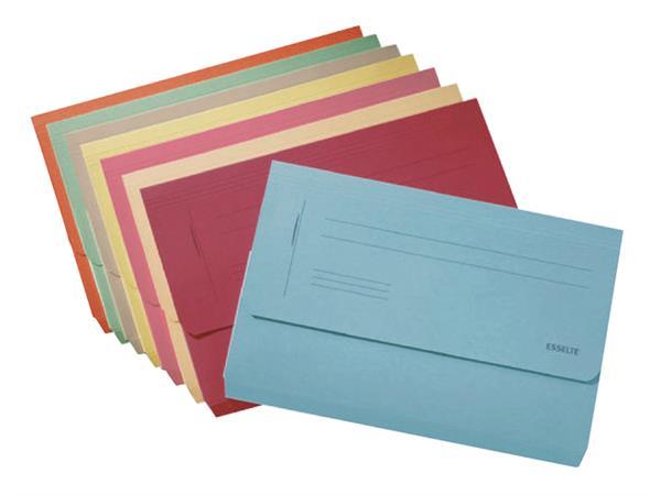 Dossiermap Esselte Pocket File geel
