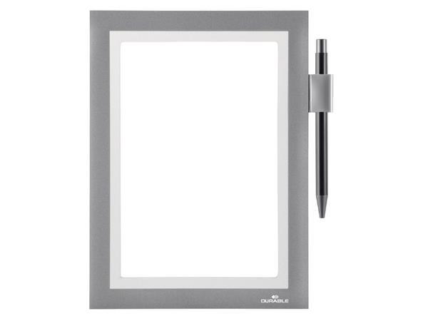 Duraframe Durable 499423 Note A5 zelfklevend zilvergrijs