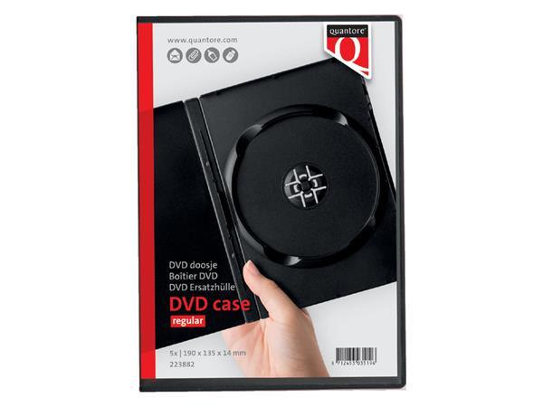 Dvd doos Quantore 14mm leeg zwart