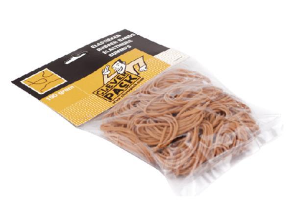 elastiek cleverpack smal 65mmx1 5mm 100gr bruin