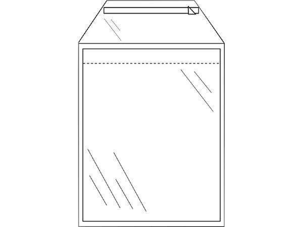 envelop cleverpack akte a4 220x300mm zelfkl transp 50stuks