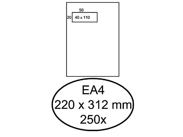 ENVELOP HERMES AKTE EA4 VL 4X11 ZK 120GR 250ST