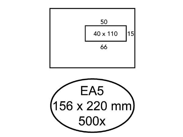ENVELOP HERMES VENSTER EA5 VR 4X11 80GR 500ST WIT
