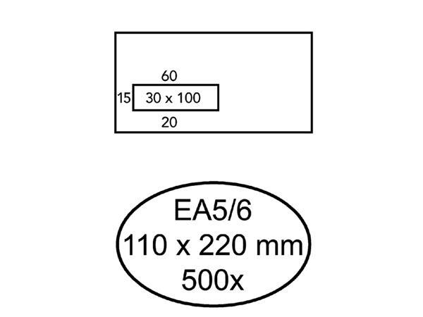 ENVELOP HERMES VENSTER EA5/6 VL 3X10 80GR ZK 500ST