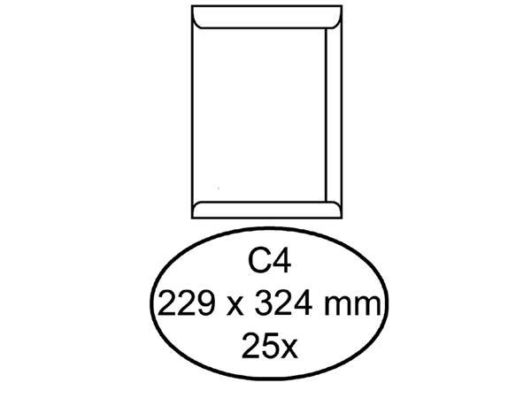 Envelop+Quantore+akte+C4+229x324mm+zelfklevend+wit+25stuks