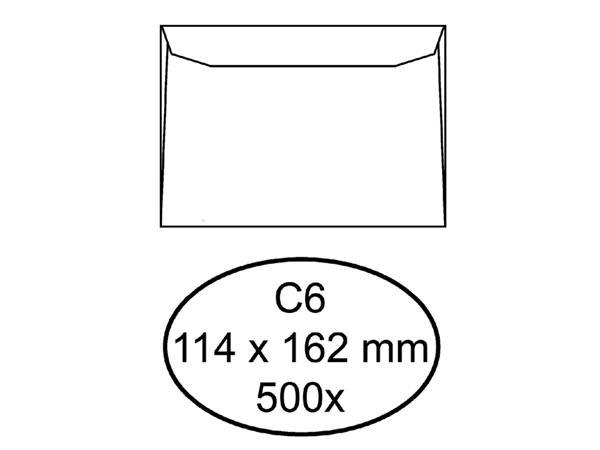 Envelop Quantore bank C6 114x162mm wit 500stuks