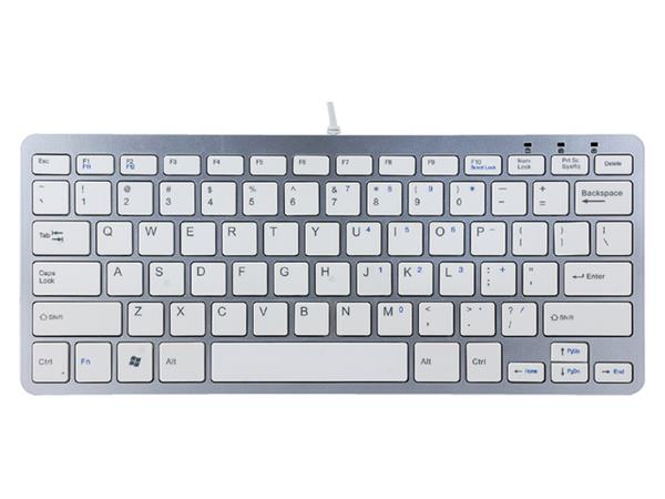TOETSENBORD R-GO COMPACT QWERTY WIT