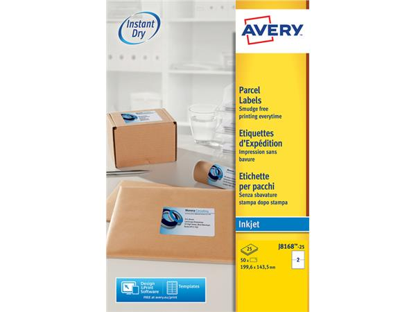ETIKET AVERY J8168-25 199.6X143.5MM 50ST