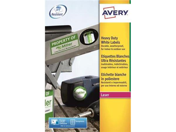 ETIKET AVERY L7060-20 63.5X38.1MM POLYESTER 420ST