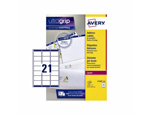 ETIKET AVERY L7160-250 63.5X38.1MM 5250ST