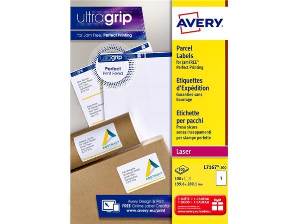 ETIKET AVERY L7167-100 199.6X289.1MM 100ST