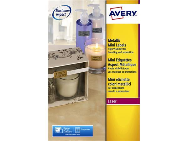 Etiket Avery L7680-25 38.1x21.2mm goud 1625stuks