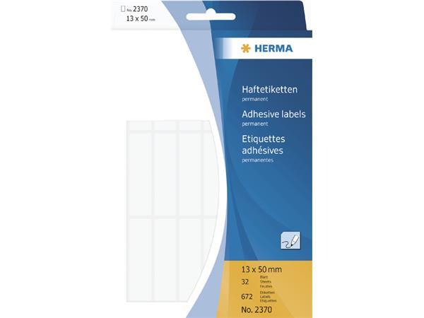 Etiket Herma 2370 13x50mm wit 672stuks