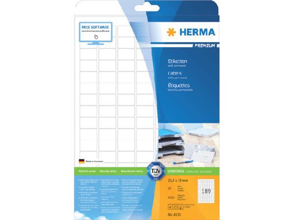 Etiket Herma 4333 25.4X10mm A4 25st