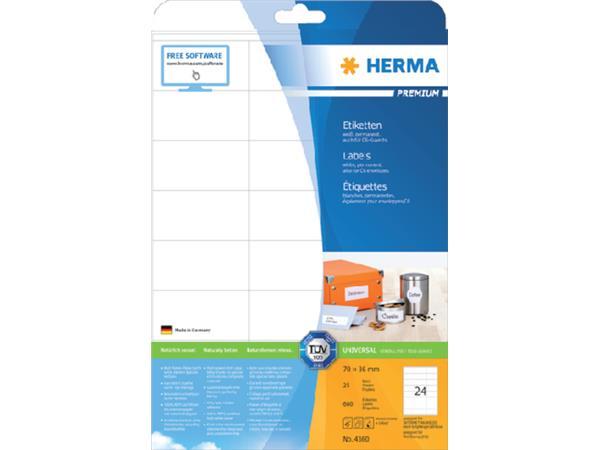 ETIKET HERMA 4360 70X36MM PREMIUM A4 600ST