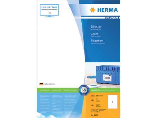 ETIKET HERMA 4428 210X297MM PREMIUM A4 100ST