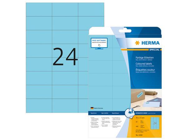 ETIKET HERMA 4468 70X37MM BLAUW 480ST