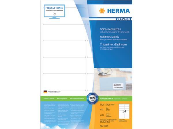 Etiket Herma 4678 99.1x38.1mm premium wit 1400stuks