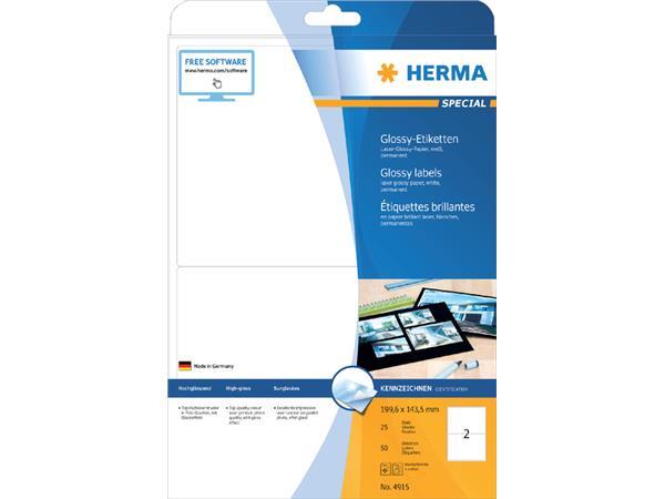 Etiket Herma 4915 199.6X143.5mm 50st wit