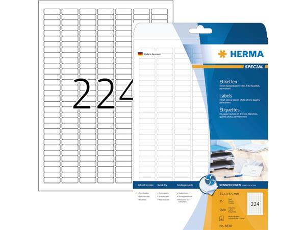 ETIKET HERMA INKPRINT 8830 25.4X8.5MM 5600ST