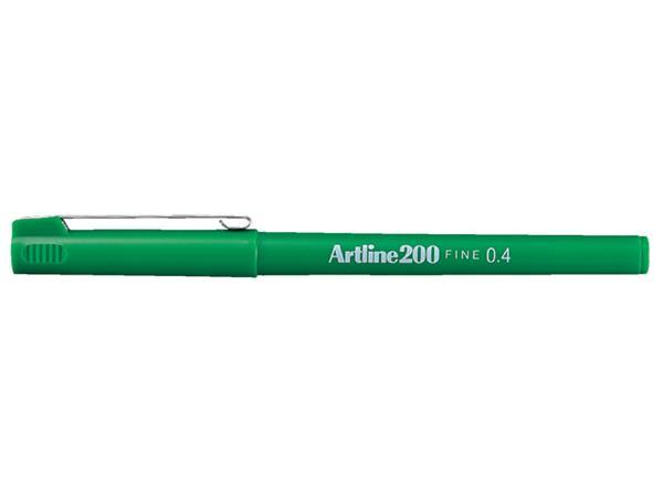 FINELINER ARTLINE 200 ROND 0.4MM GROEN