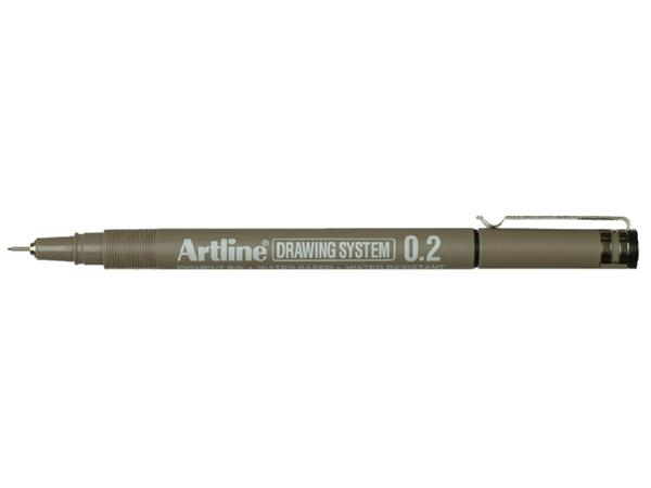 FINELINER ARTLINE 0.2MM ZWART