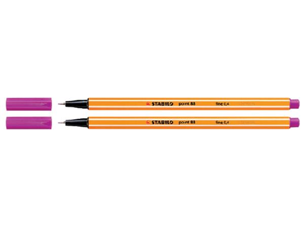 FINELINER STABILO POINT 88/56 ROZE ROOD