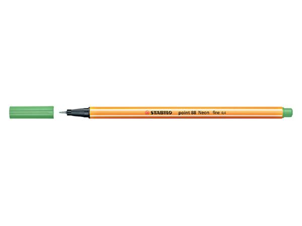 Fineliner STABILO point 88/033 neon groen