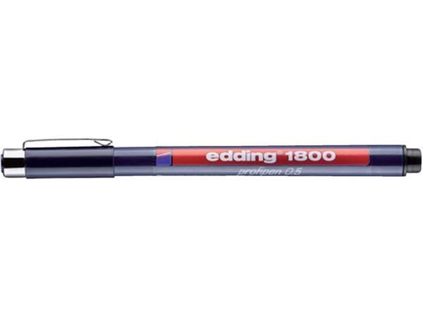 Fineliner edding 1800 zwart 0.5mm