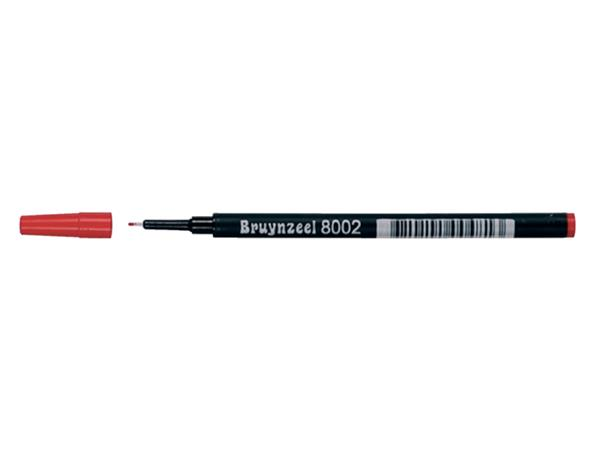 Finelinervulling Bruynzeel spits 8002 rood 0.4mm