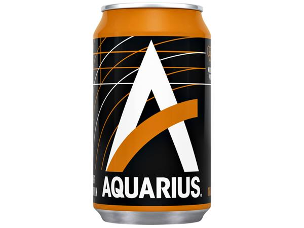 Frisdrank Aquarius Orange blikje 0.33l