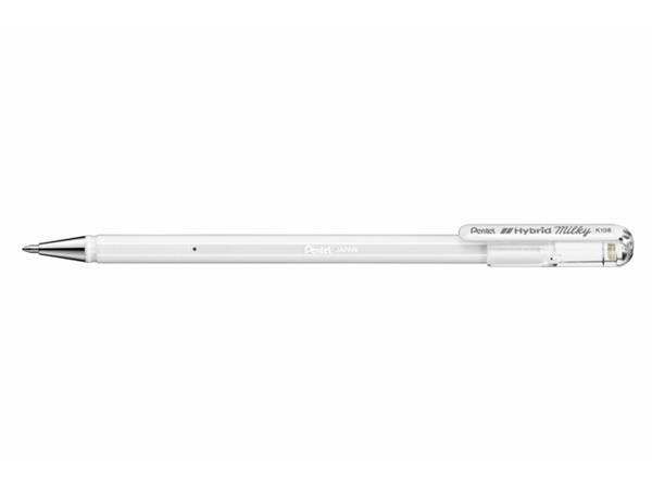 Gelschrijver Pentel K108-P 0.5mm pastel wit